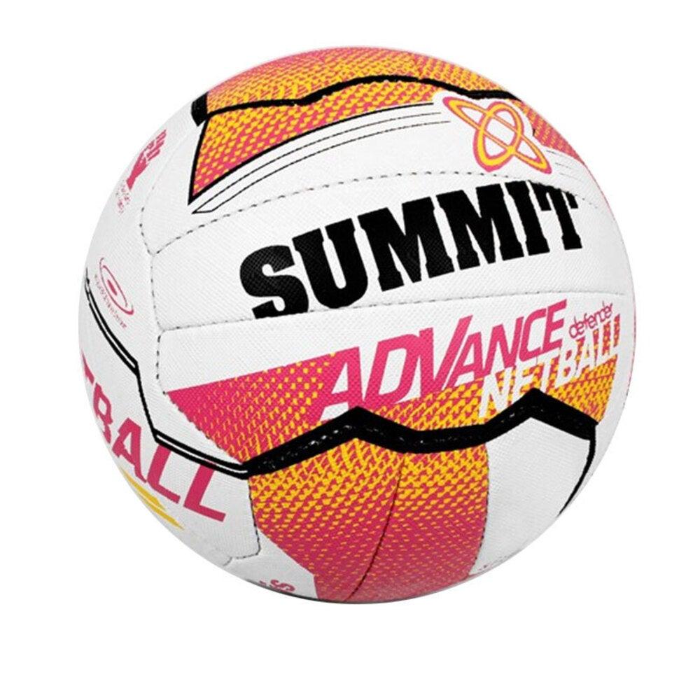 Summit Netball Training Ball Size 4 Liz Ellis 18 Stitched Panel/Sport Pink/White