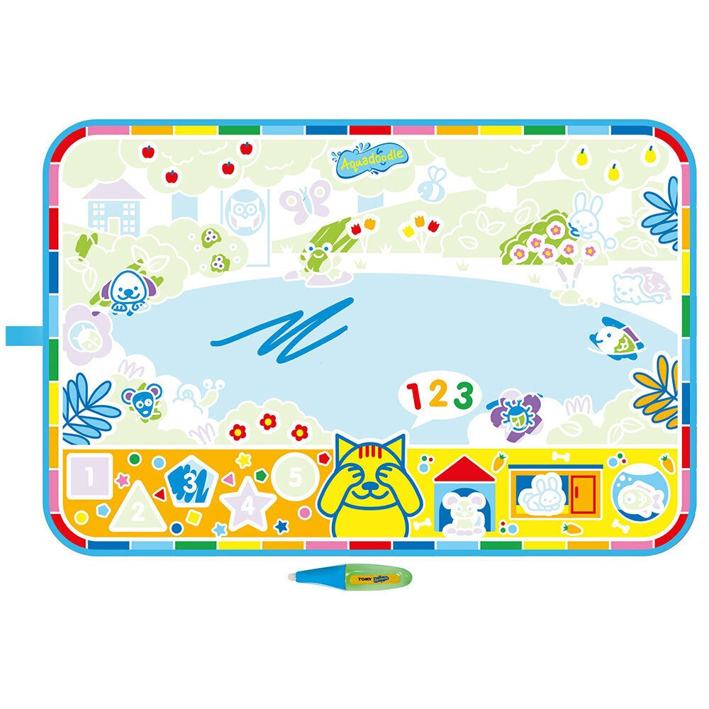 Tomy Aquadoodle Kids/Toddler My 1st Discovery Roll-n-Go 60cm Mat/Water Pen 18m+