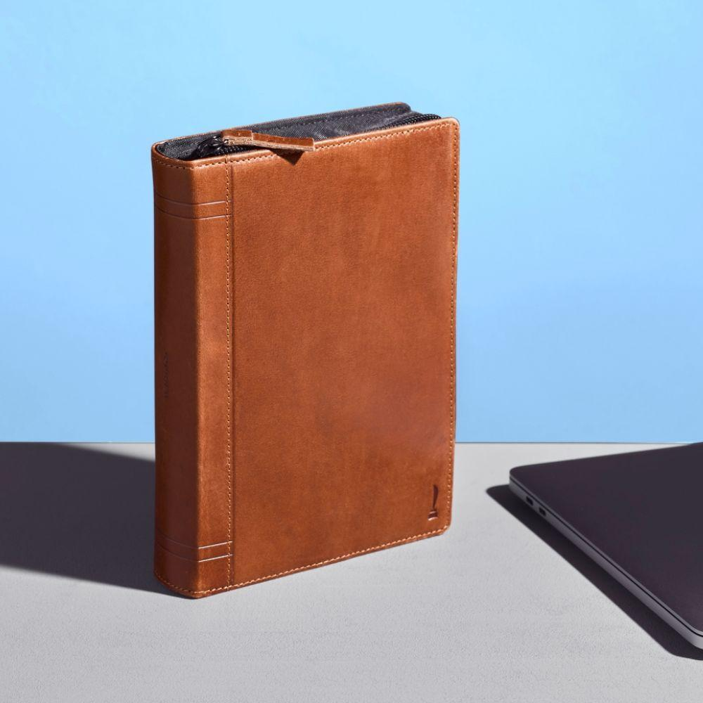 TwelveSouth Journal CaddySack Leather Travel Accessory/Cables/Adapter Case Brown