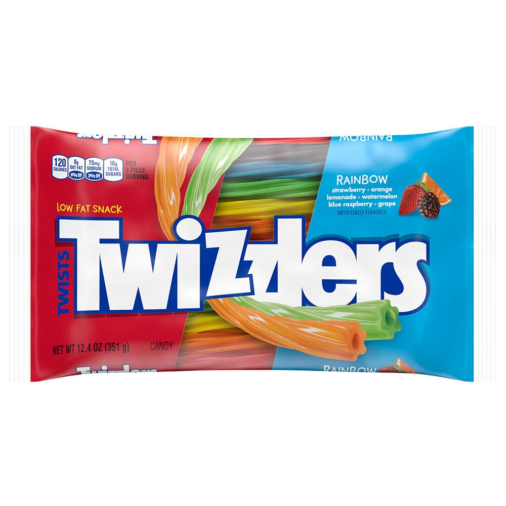 Twizzlers 351g Rainbow Twists Bag Low Fat Snack Candy/Sweets/Confectionary/Lolly
