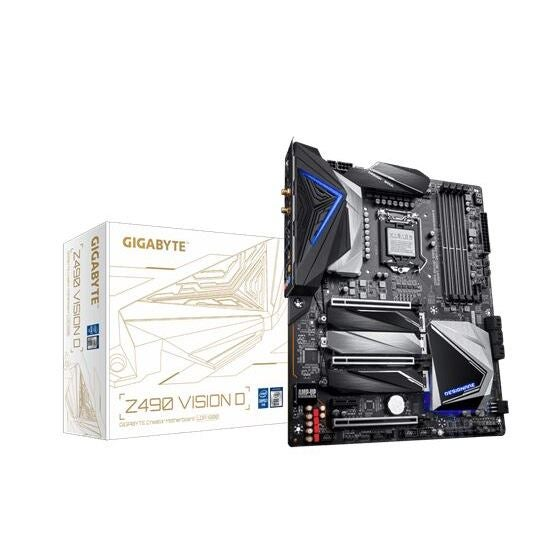 Gigabyte Z490 VISION D Intel ATX Motherboard 4xDDR4 3xPCIe 3xM.2 6xSATA RAID 2.5GbE LAN 10th Gen LGA1200 WiFi