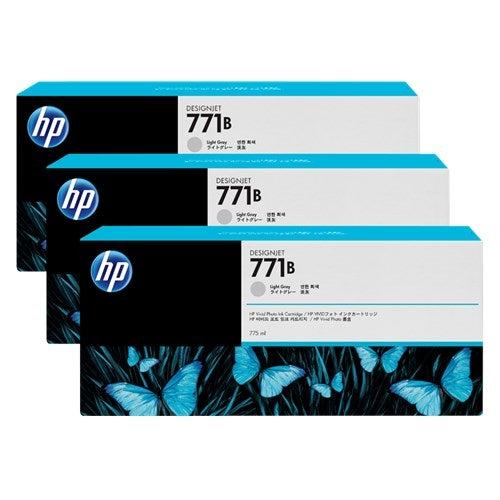 HP 771B 775ML LIGHT GRAY DESIGNJET INK CARTRIDGE 3-PACK - Z6200/Z6800/Z6810