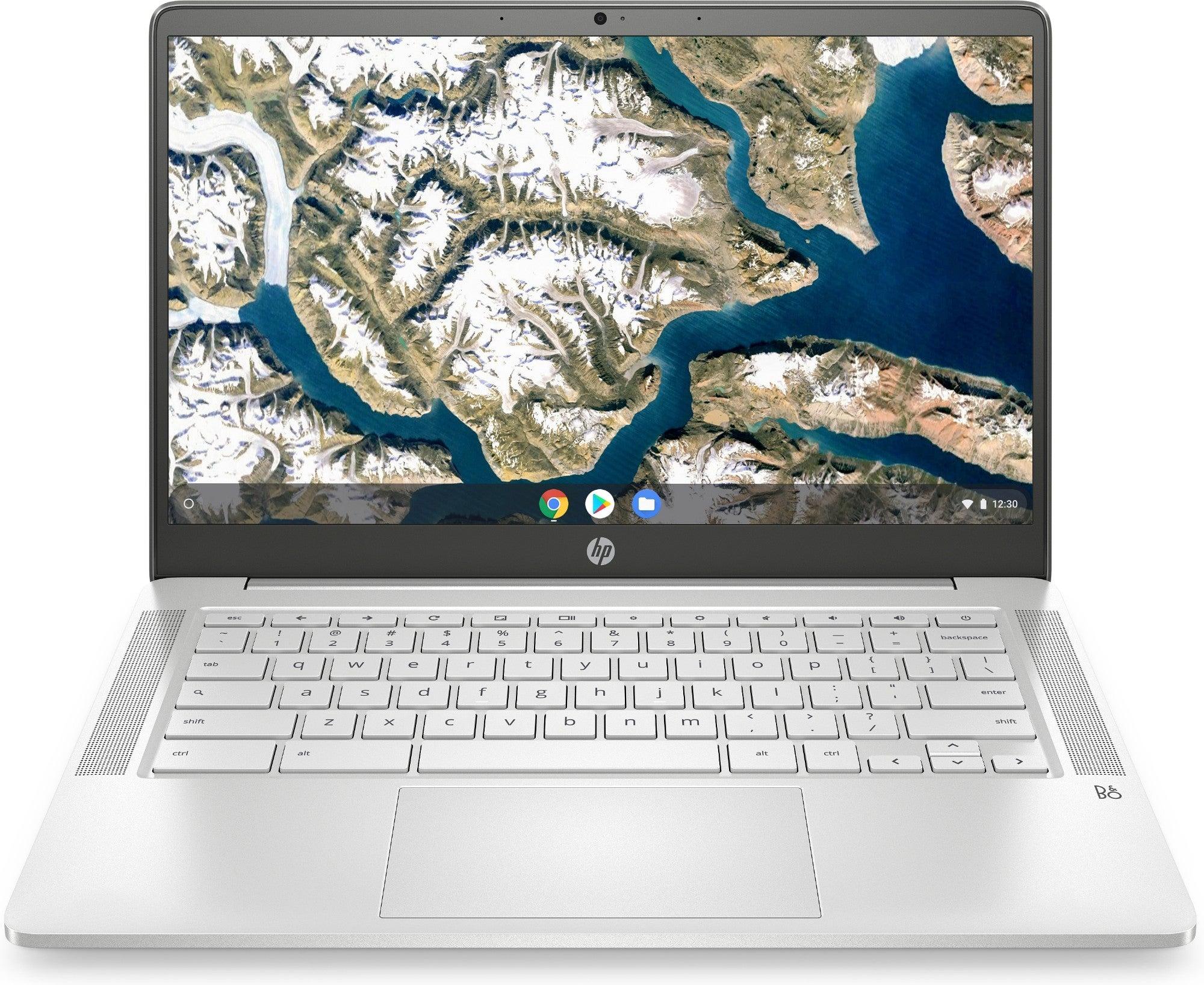 """HP Chromebook 14a-na0019TU LPDDR4-SDRAM 35.6 cm (14"""") 1366 x 768 pixels Intel(R) Celeron(R) N 4 GB 64 GB eMMC Wi-Fi 5 (802.11ac) Chrome OS Silver"""