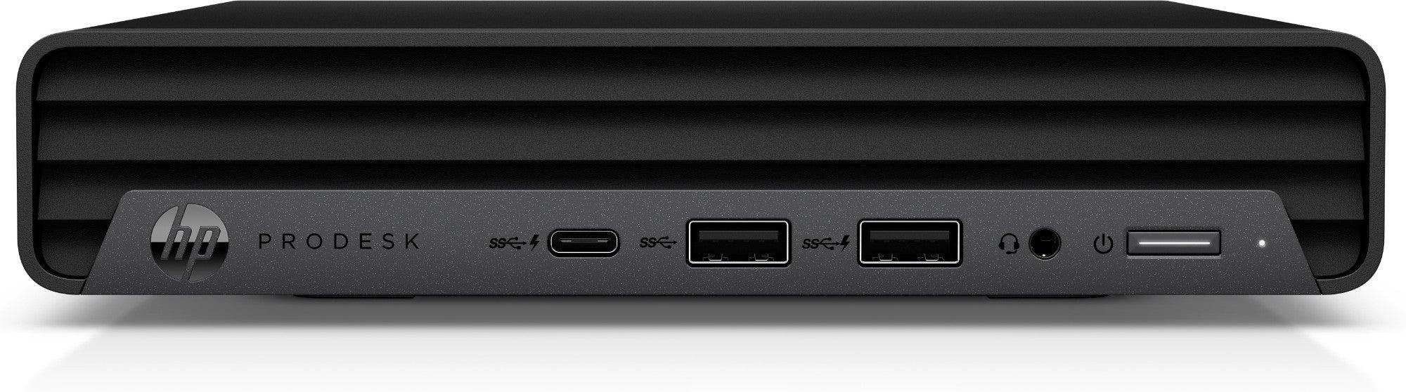 HP ProDesk G6 Mini DDR4-SDRAM i3-10100T mini PC 10th gen Intel(R) Core(TM) i3 8 GB 256 GB SSD Windows 10 Pro Black