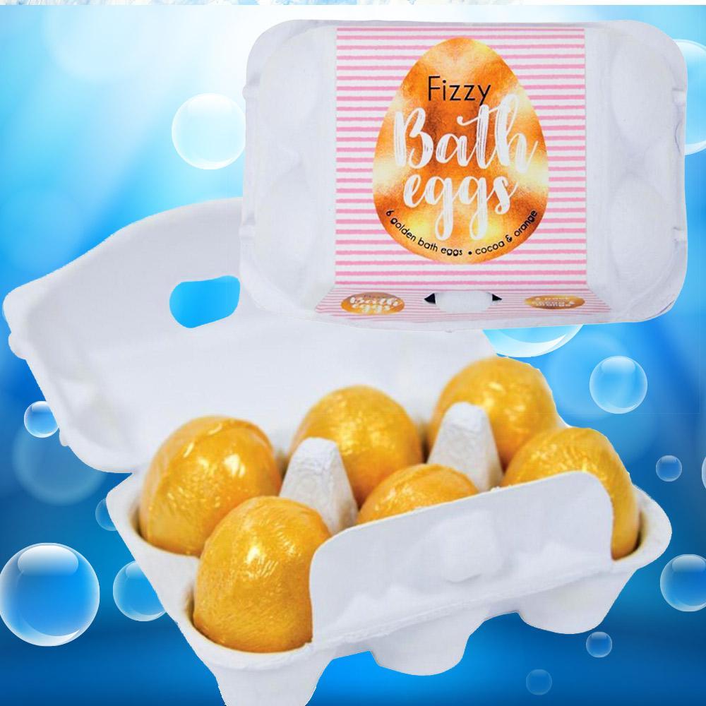 Golden Fizzy Bath Bomb Eggs - Half Dozen