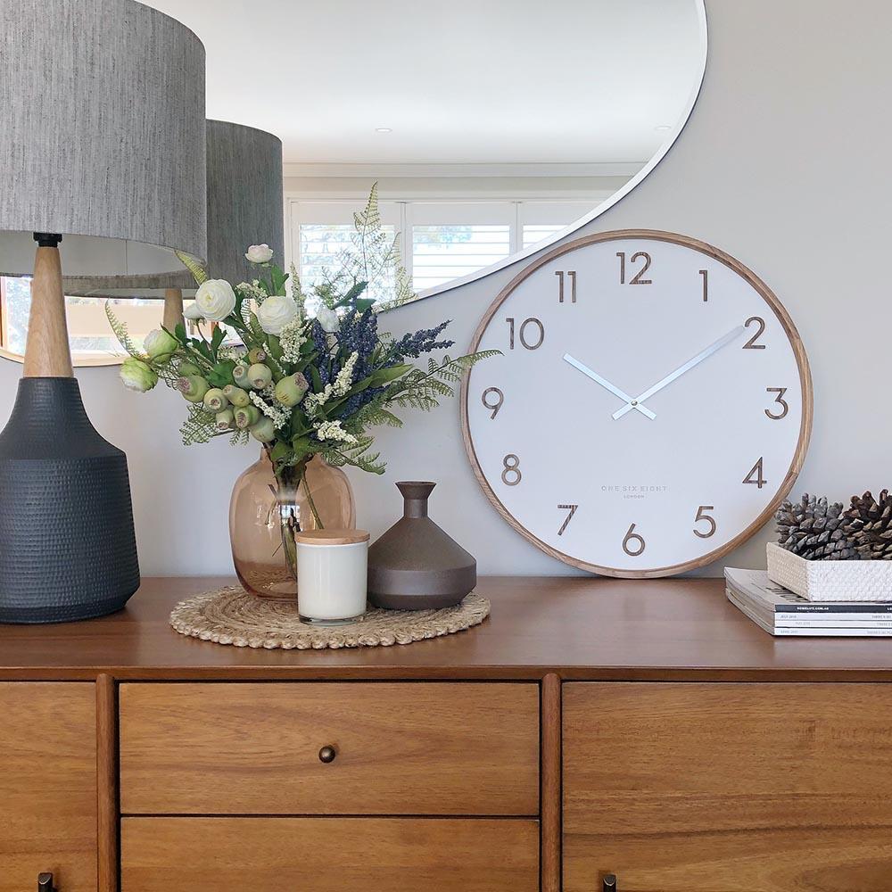 Scarlett Minimalist Wall Clock White