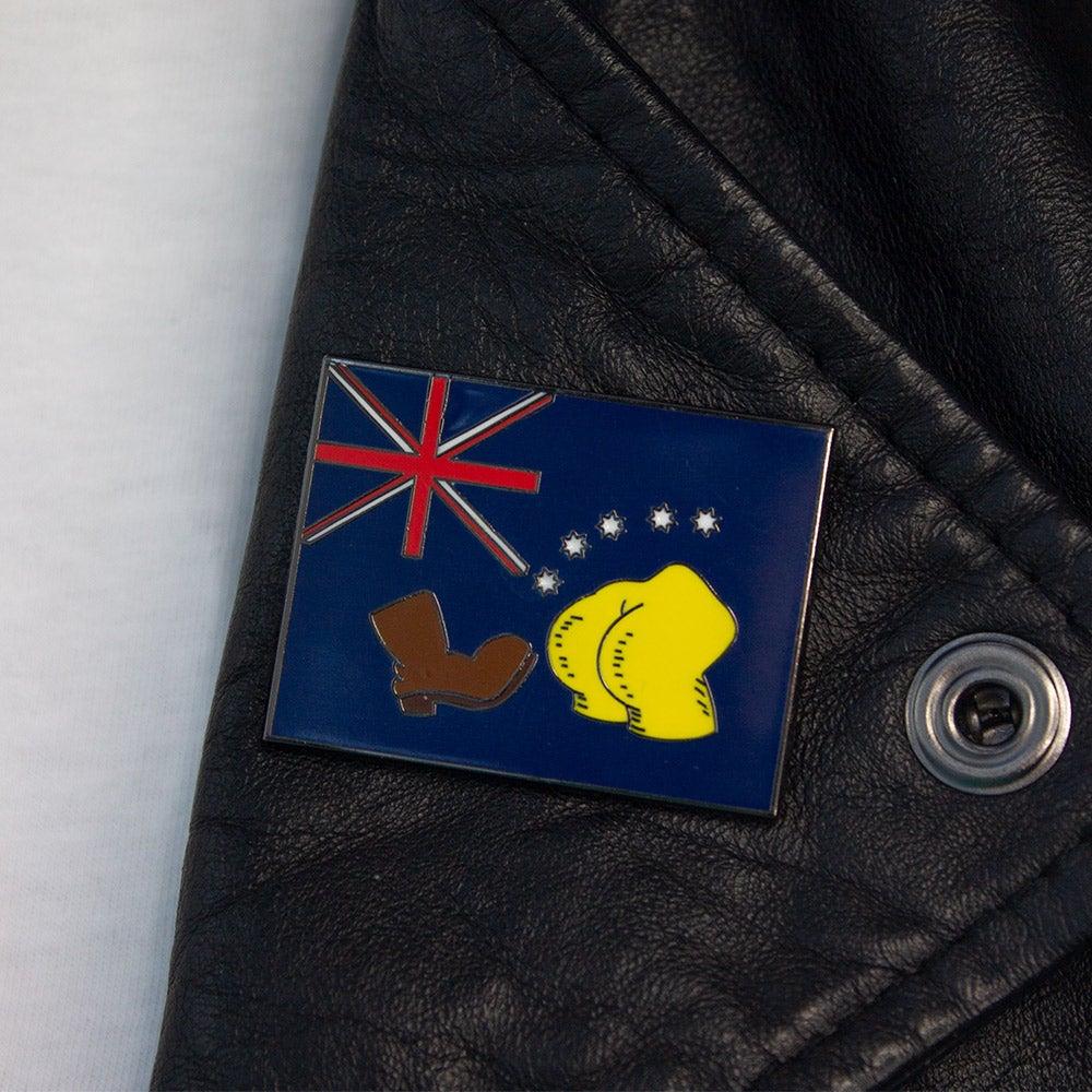 The Simpsons Bart vs Australia Flag Enamel Pin