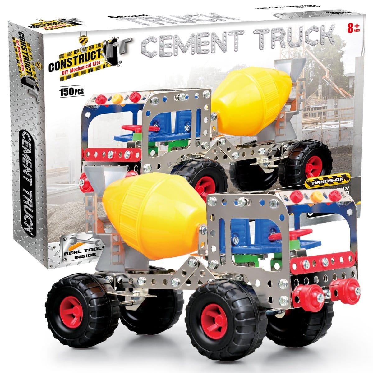 Construct-It! Cement Truck 150 Piece Kit