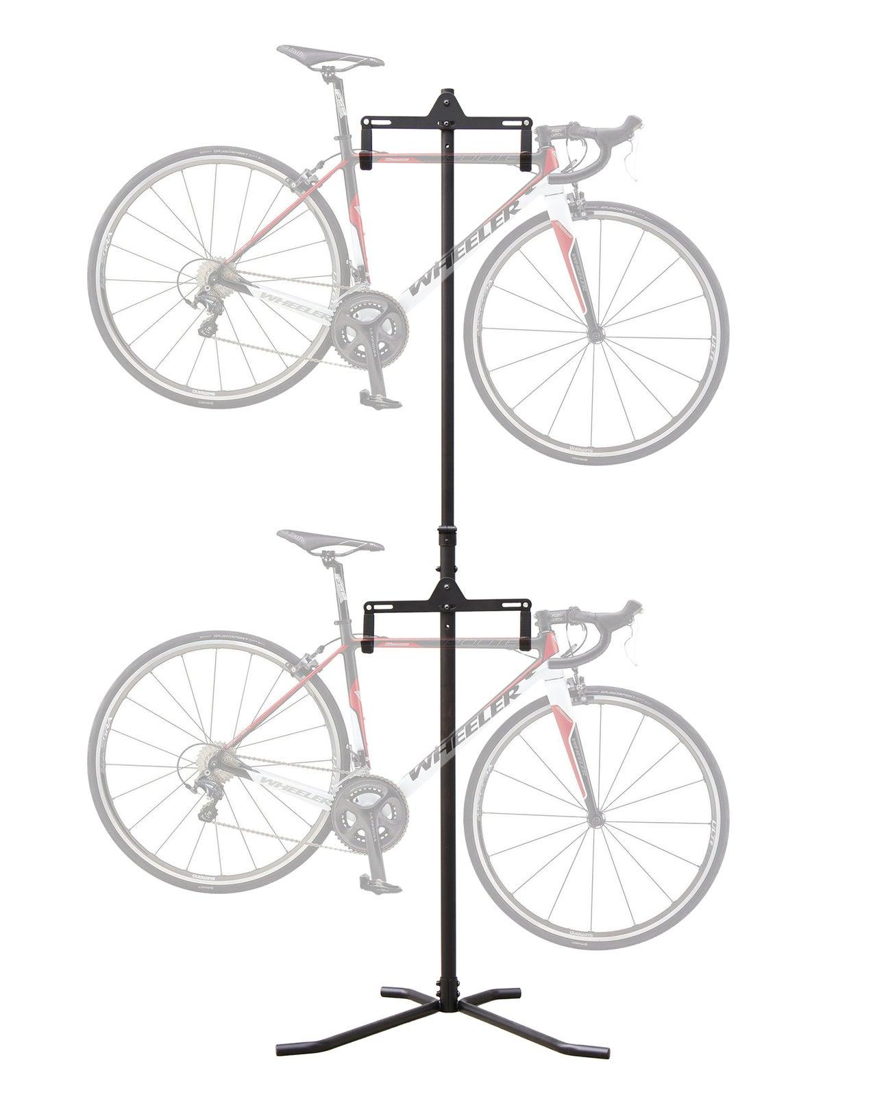 2 Bike Bicycle Vertical Hanger Floor Stand