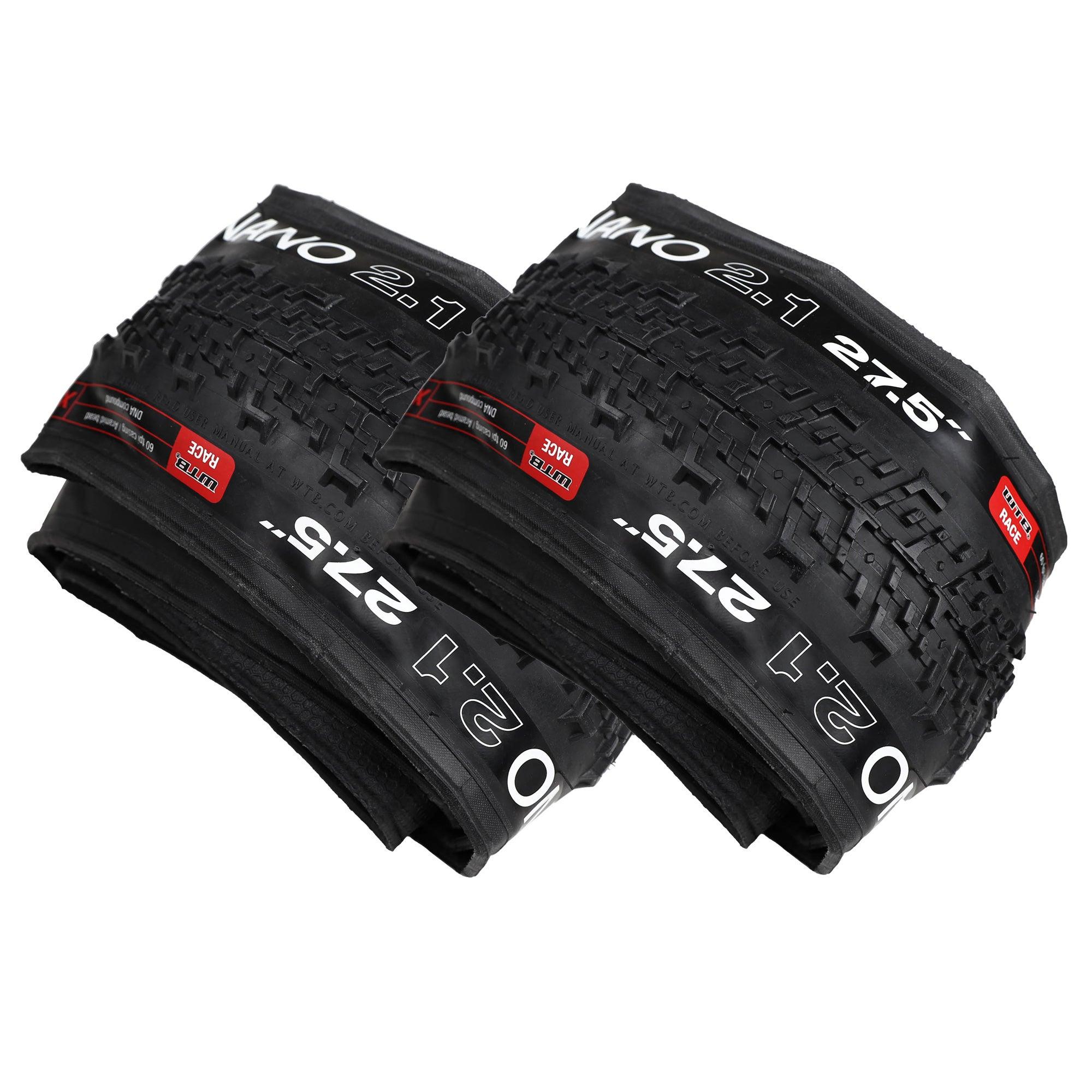 "2x (Pair) WTB NANO 2.1 RACE Mountain Bike MTB XC Folding Bead Tyre 27.5 x 2.1"""