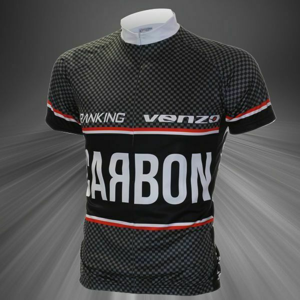 Carbon Look Short Sleeve Cycling Jersey