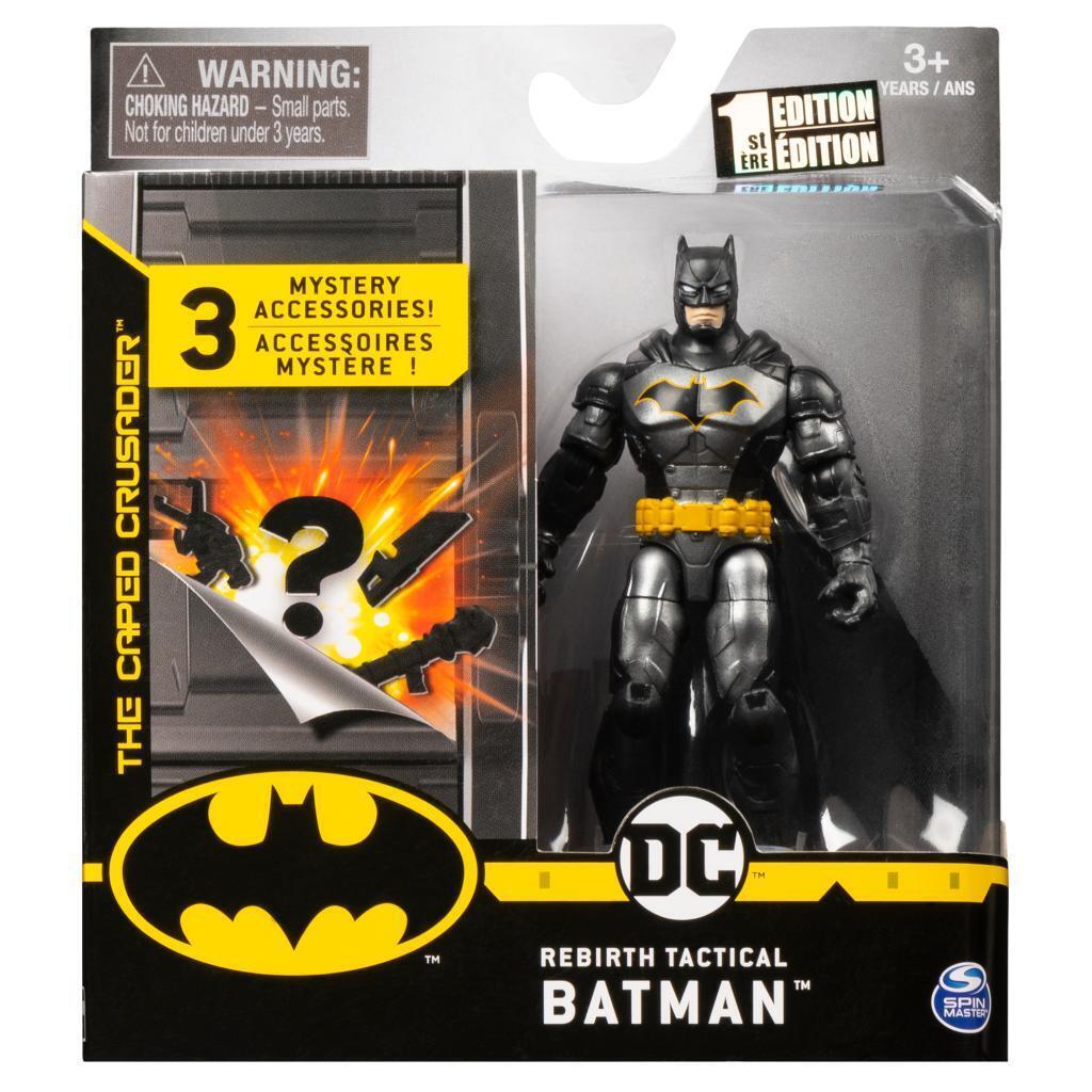 Rebirth Tactical Batman Figure 10cm + Mystery Accessories DC Batman Ver 2
