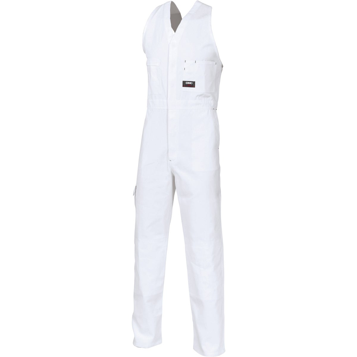 DNC Cotton Drill Action Back Overall - White