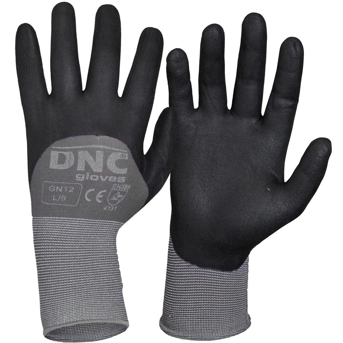 DNC Premium Nitrile Supaflex 3/4 Coating - Black/Grey - 2XL