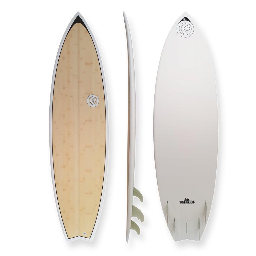 "FIND™ 6'0"" Quadfish Ecoflex Bamboo Surfboard"