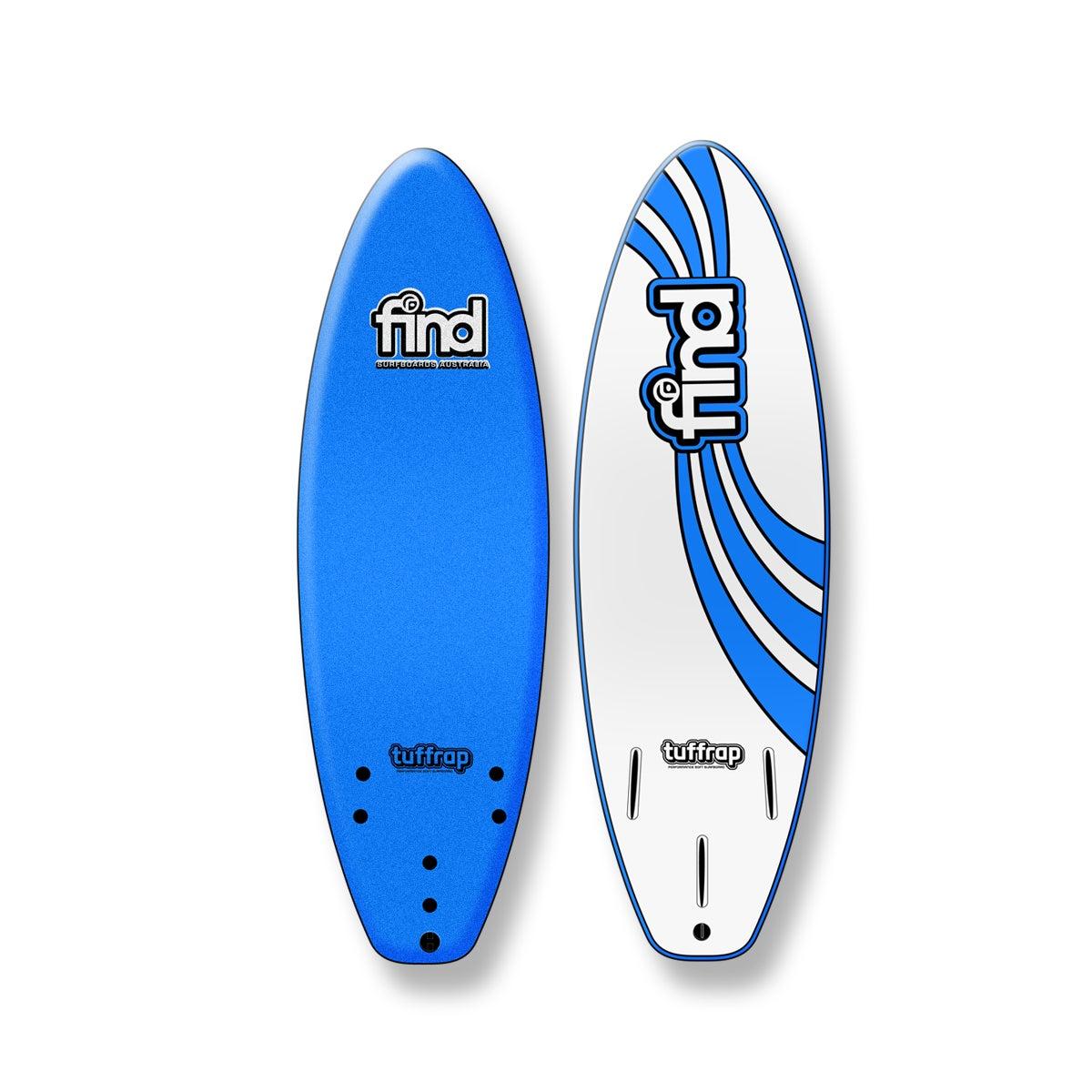 FIND™ Tuffrap Thruster Soft Surfboard Blue