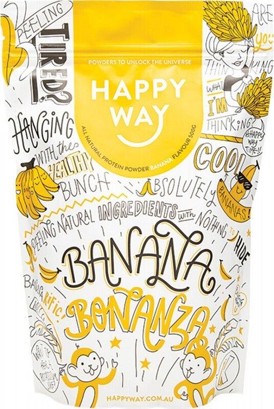 Happy Way Whey Protein Powder Banana 500g