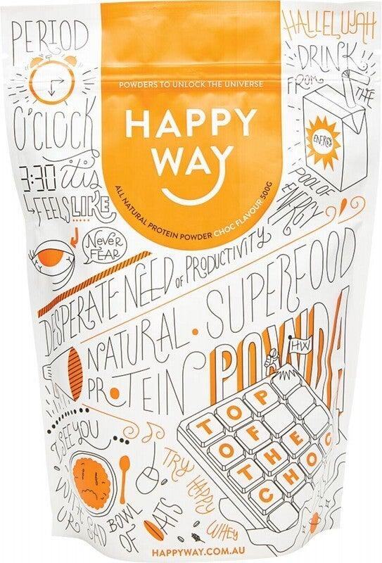 Happy Way Whey Protein Powder Chocolate 500g