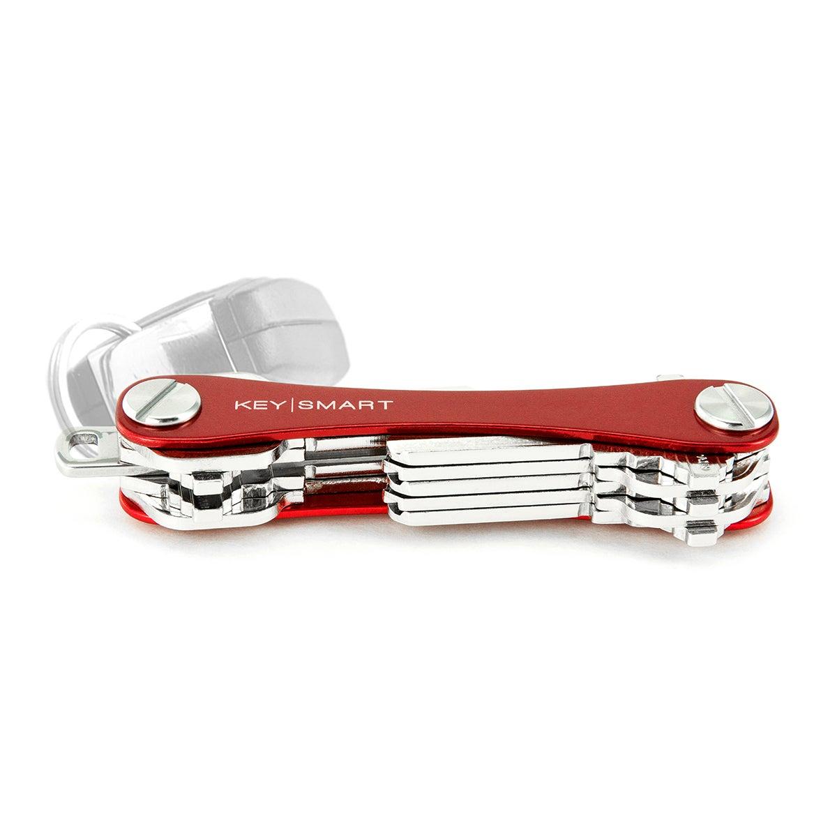 KeySmart Key Holder, Alum(Up to 8 Keys) Red