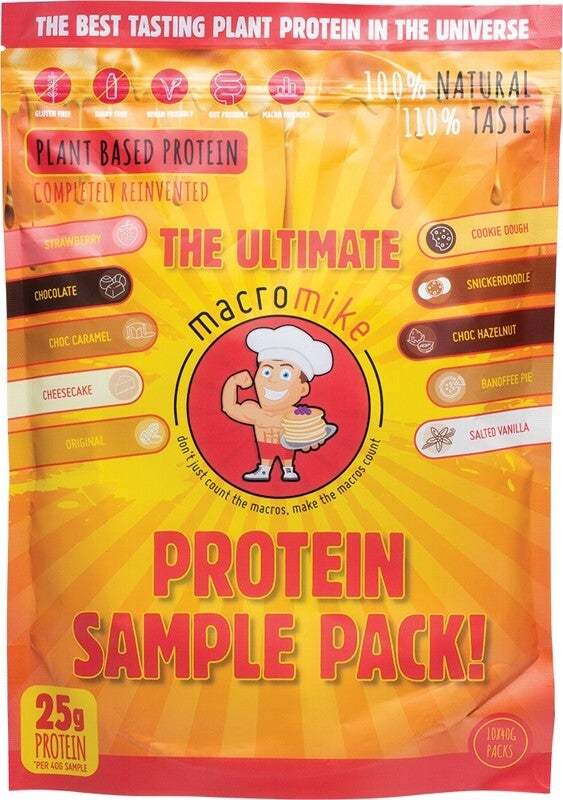 Macro Mike Plant Based Protein Sample Pack 10x40g