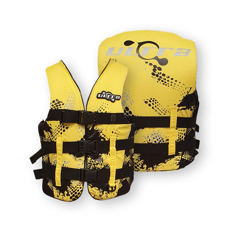 Ultra Life Jacket PFD – Personal Floating Device - Contender Yellow