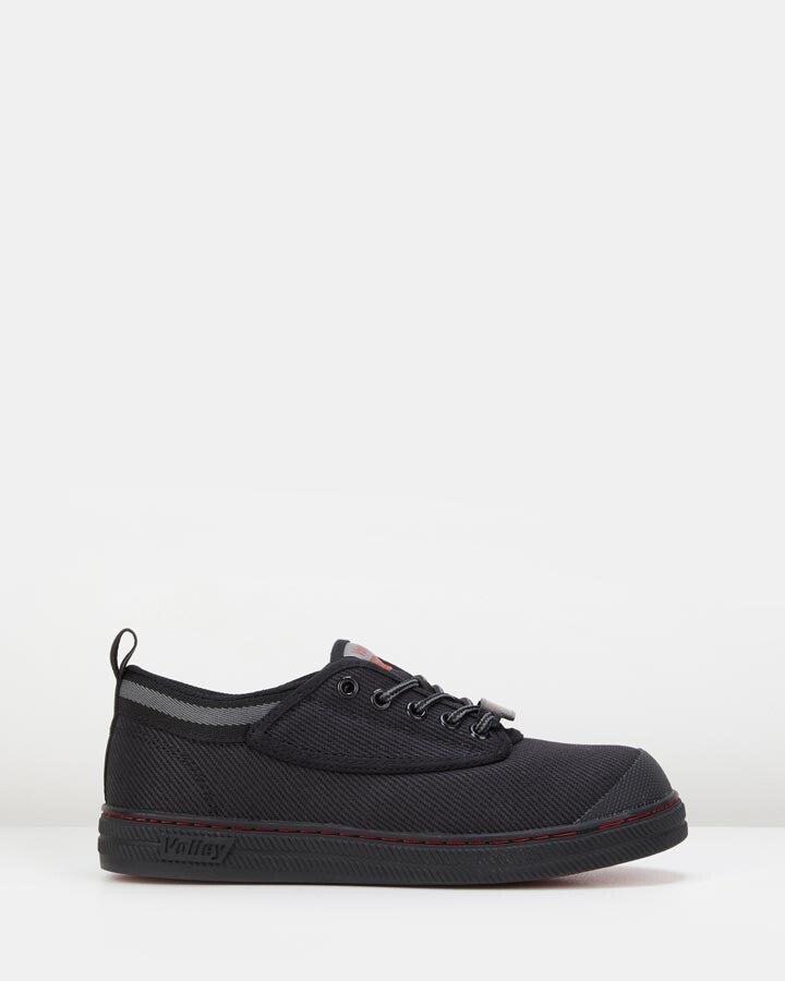 Volley Safety Canvas Shoe - Black/Grey - 4