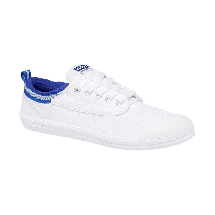 Volley Youth International Canvas Shoe - White/Blue - 2