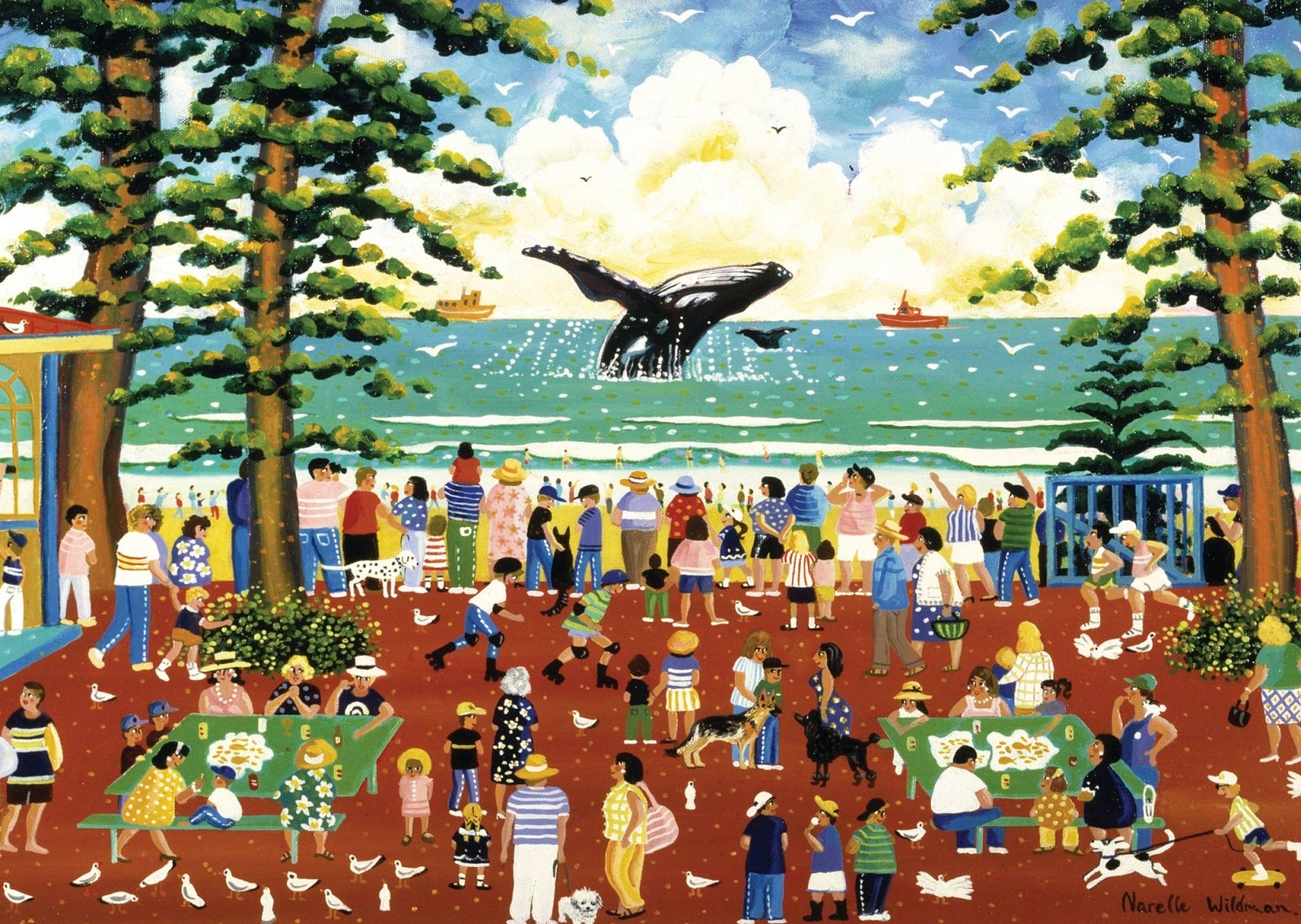 Blue Opal - Watching the Whales Puzzle 1000pc
