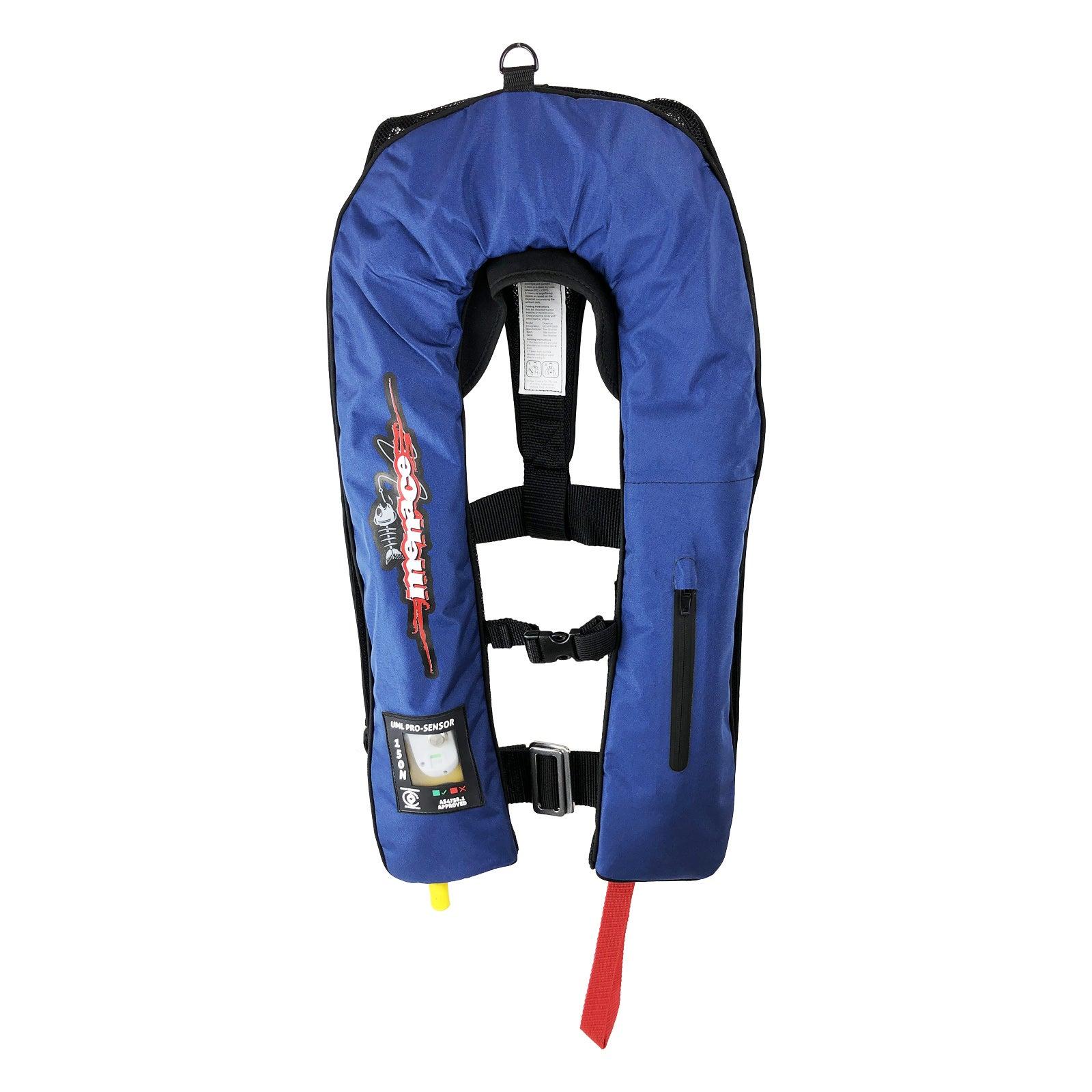 MANUAL PRO Inflatable Life Jacket PFD Type 1 LifeJackets Level 150N