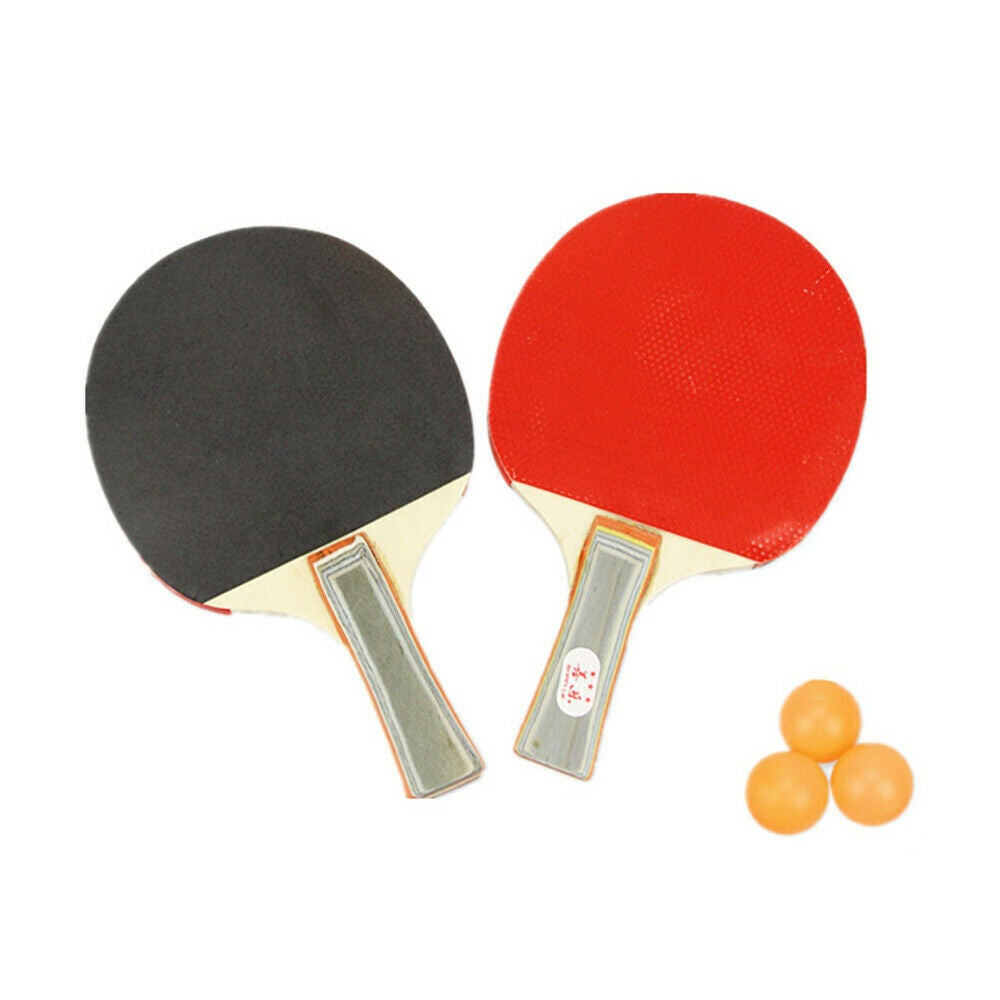 2 Players Table Tennis Set 2 Rackets Bats with 3 Ping Pong Balls Home Sports