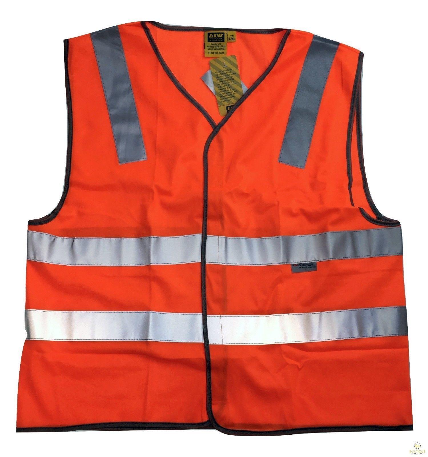 3M Reflective Tape Hi Vis Safety VEST Workwear Night & Day Use Safety Visibility
