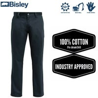 BISLEY Cotton Drill Cargo Pants Industrial Work Trousers Tradie BP6006 New