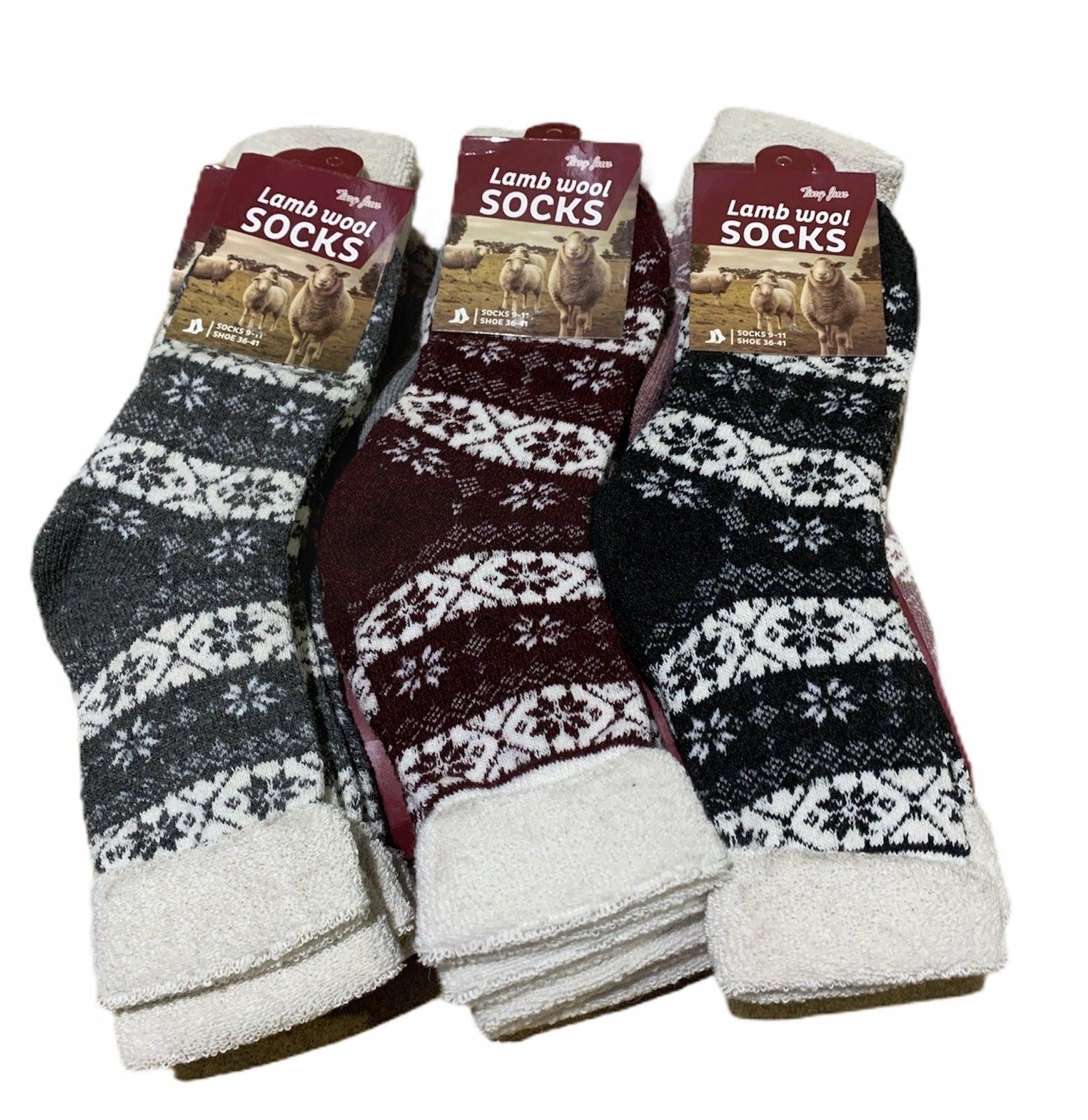 6 Pairs Women's Lambs Wool Socks Extra Warm Winter Thermal Soft