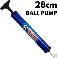 28cm BALL PUMP Air Inflator Soccer Basketball Football Needle Fitness Portable