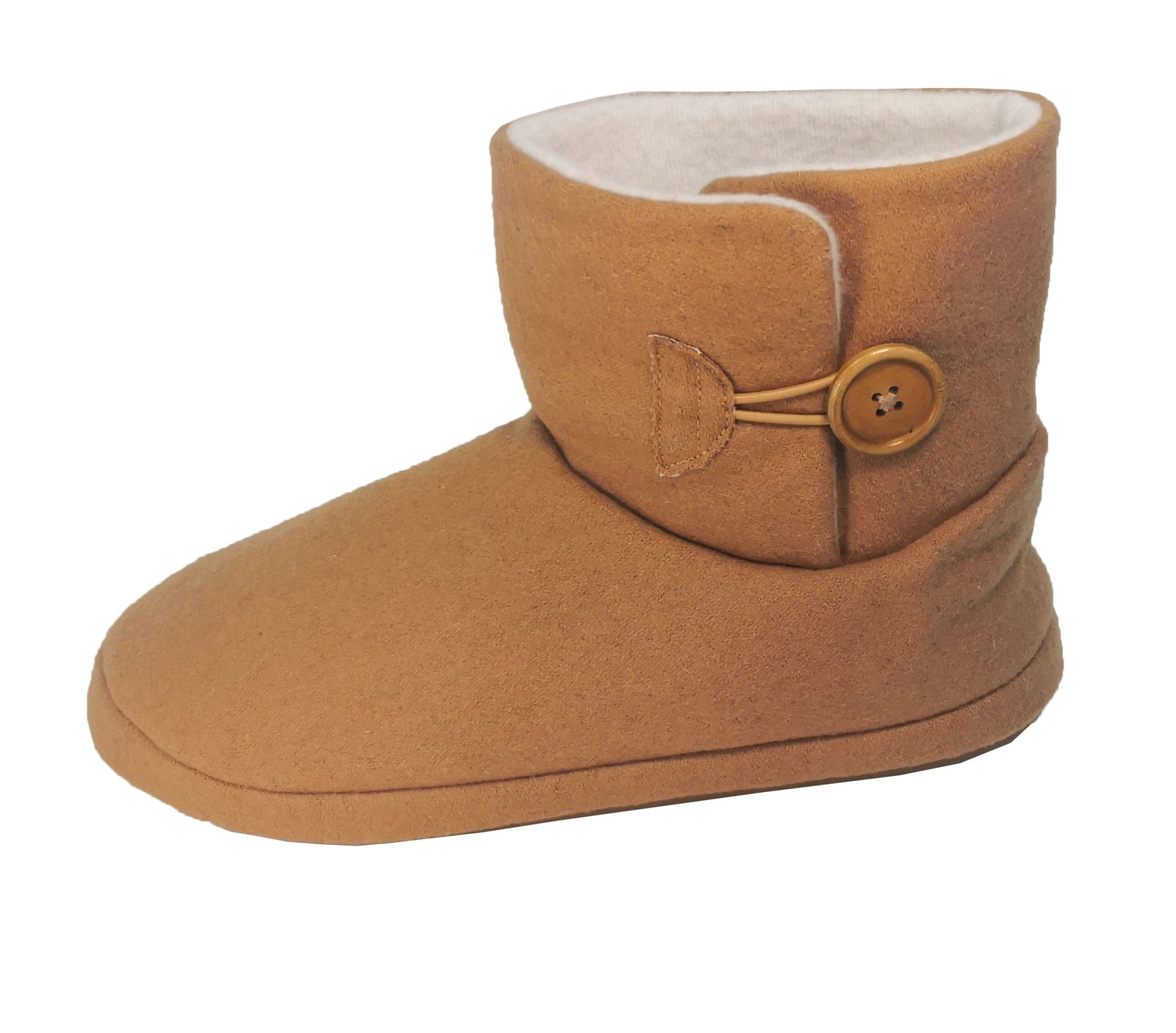 Archline Orthotic Ugg Boots Slippers Snugg Arch Support Warm Mini Button - Chestnut