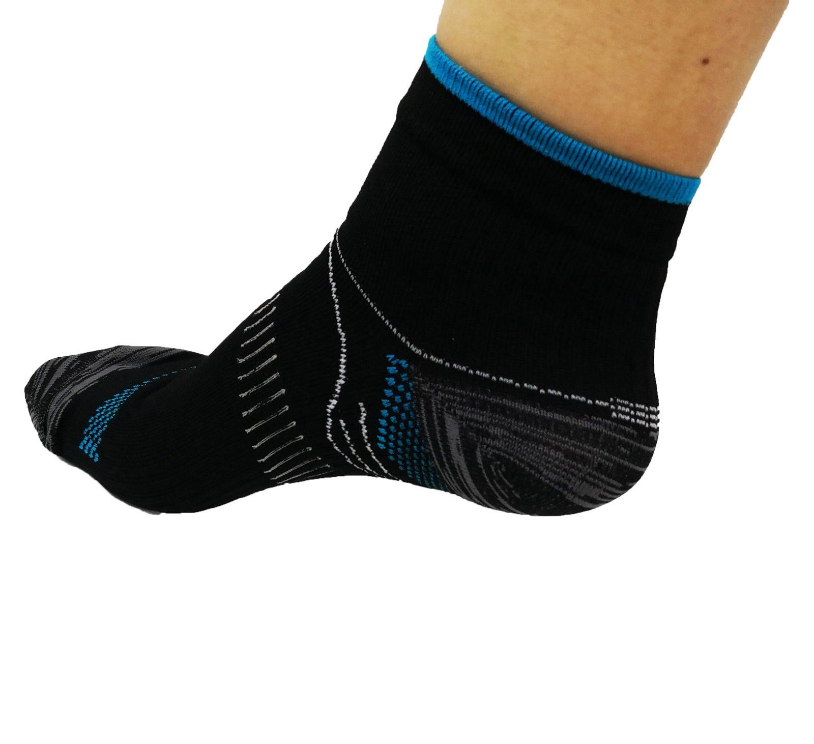 AXIGN Medical Compression Running Socks - Blue/Black