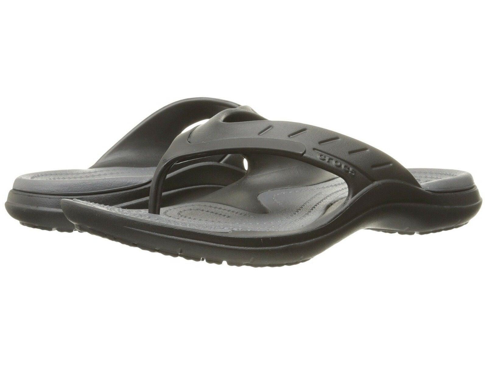Crocs Men's Modi Sport Flip Flops Thongs Summer - Black/Graphite