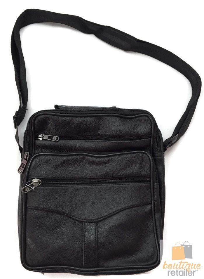 Genuine Leather Messenger Bag Shoulder Travel Satchel Crossbody Sling LARGE
