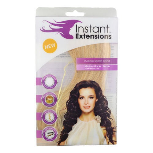 INSTANT EXTENSIONS Medium Golden Blonde Seen On TV Invisible Band INSTAEXT_MGB