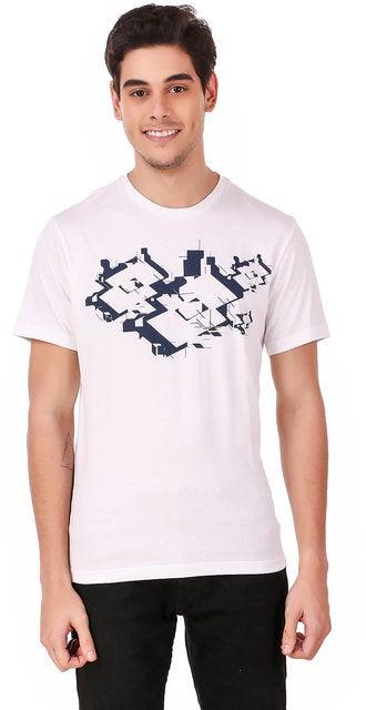 Lotto Men's L73 Losanga Tee Shirt Sports Tennis Training - White/Black