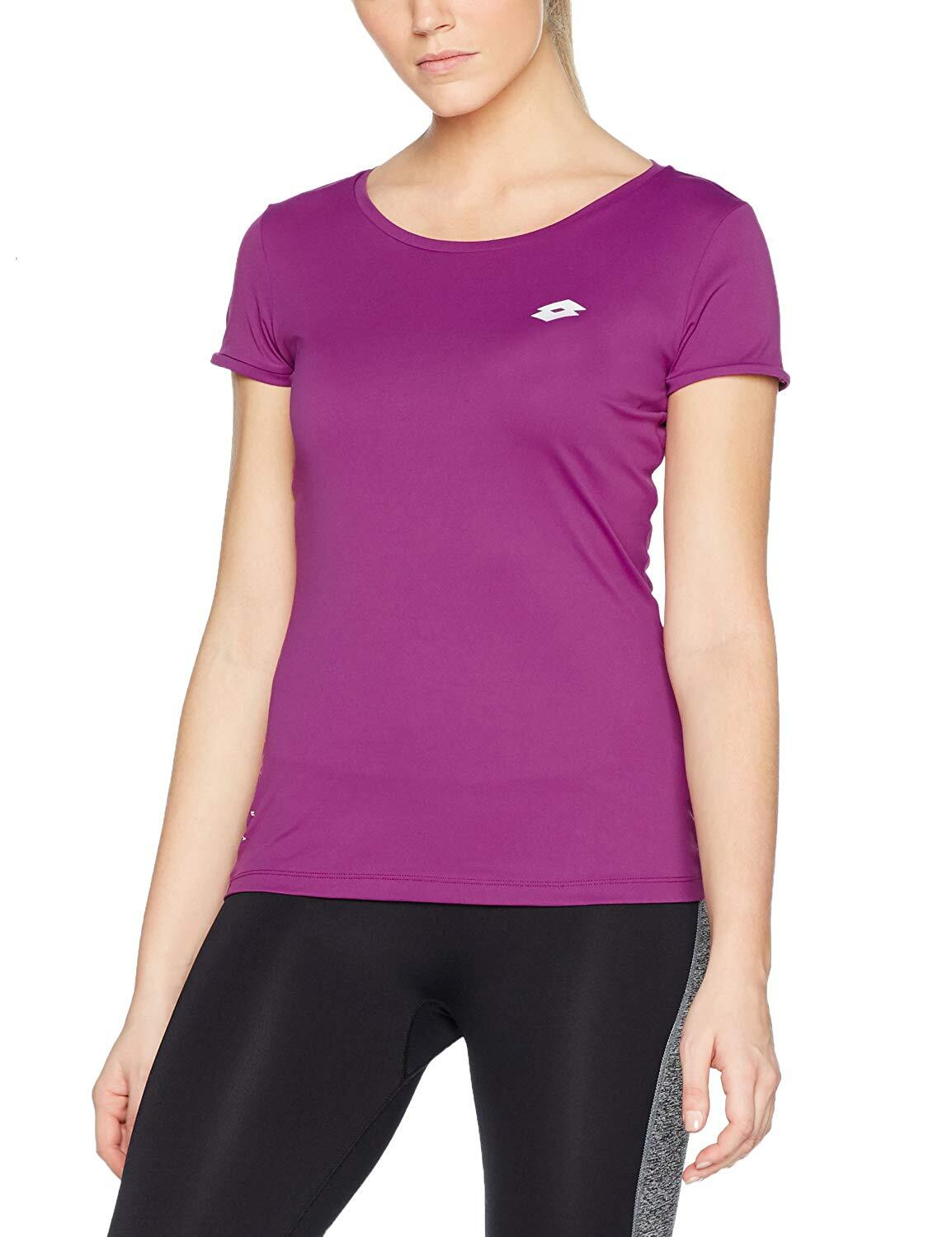 Lotto Women's Ursula V Tee Shirt PL Sports Fitness Tennis Training - Tropea