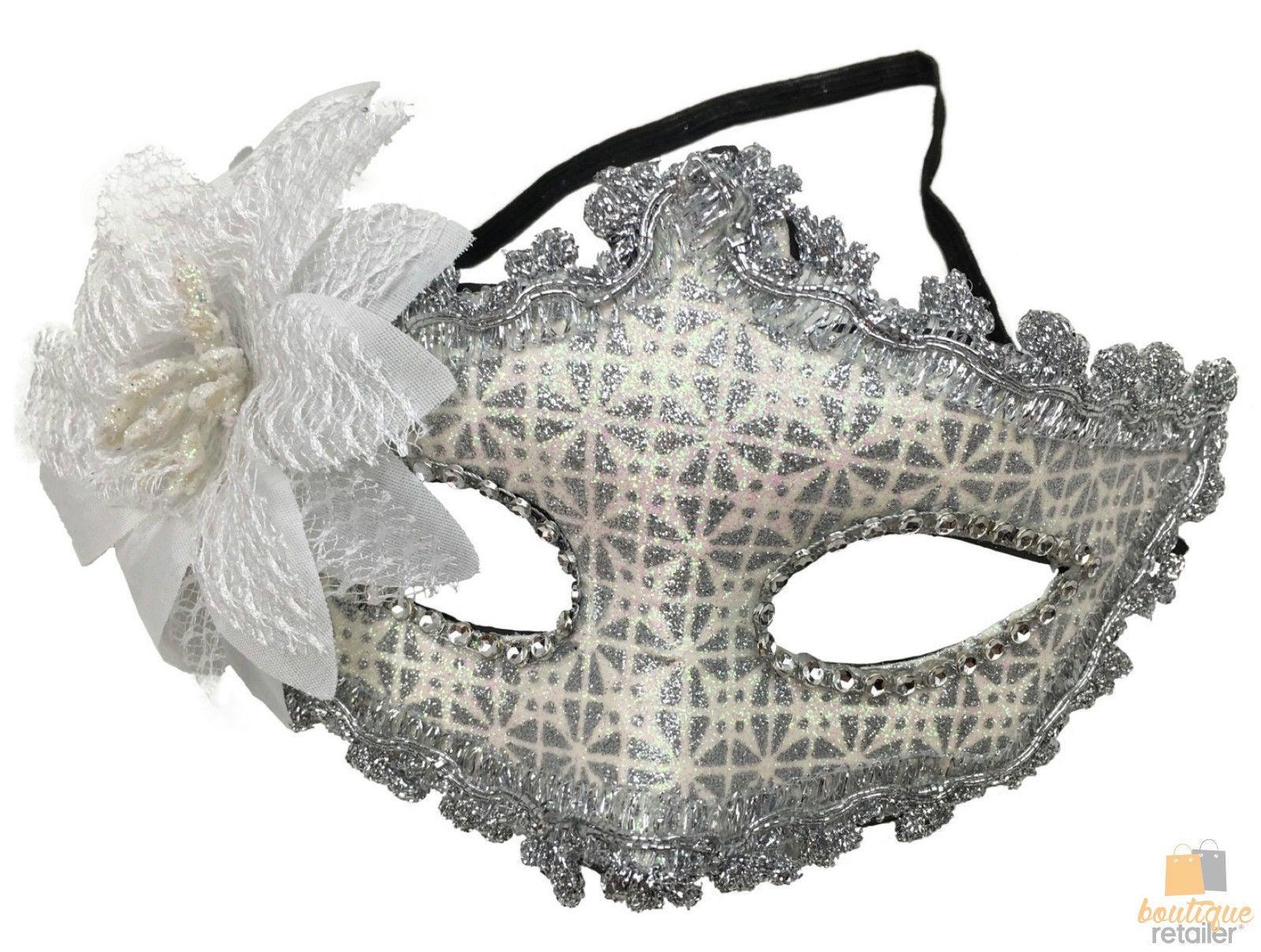 MASQUERADE MASK Party Costume Venetian Ball Dress Eye Diamante Halloween Face