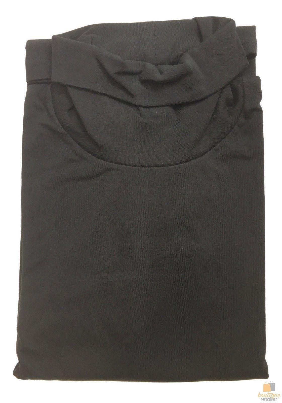 Men's SKIVVY Long Sleeve Plain Top Skivvies Warm High Neck Cotton Blend New 0750