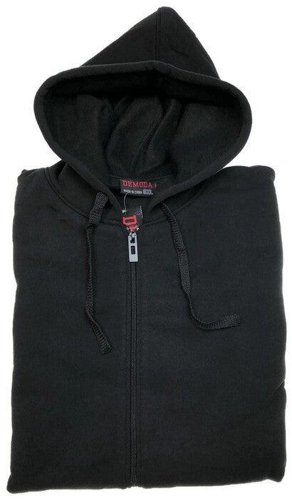 Mens PLUS SIZE ZIP HOODIE Plain Winter Fleece Jumper Sweatshirt Pockets