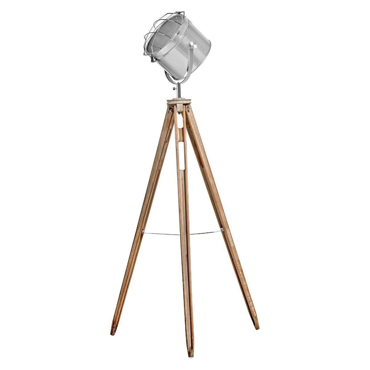 NAUTICAL TRIPOD FLOOR LAMP Searchlight Modern Spot Light Retro Industrial 75029
