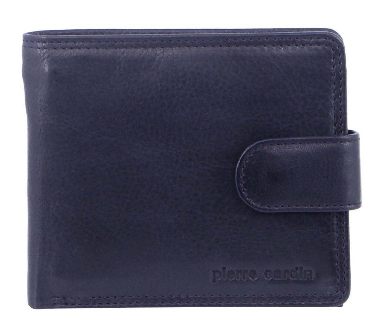 Pierre Cardin Mens RFID Slim Wallet Genuine Italian Leather Gift Box - Midnight