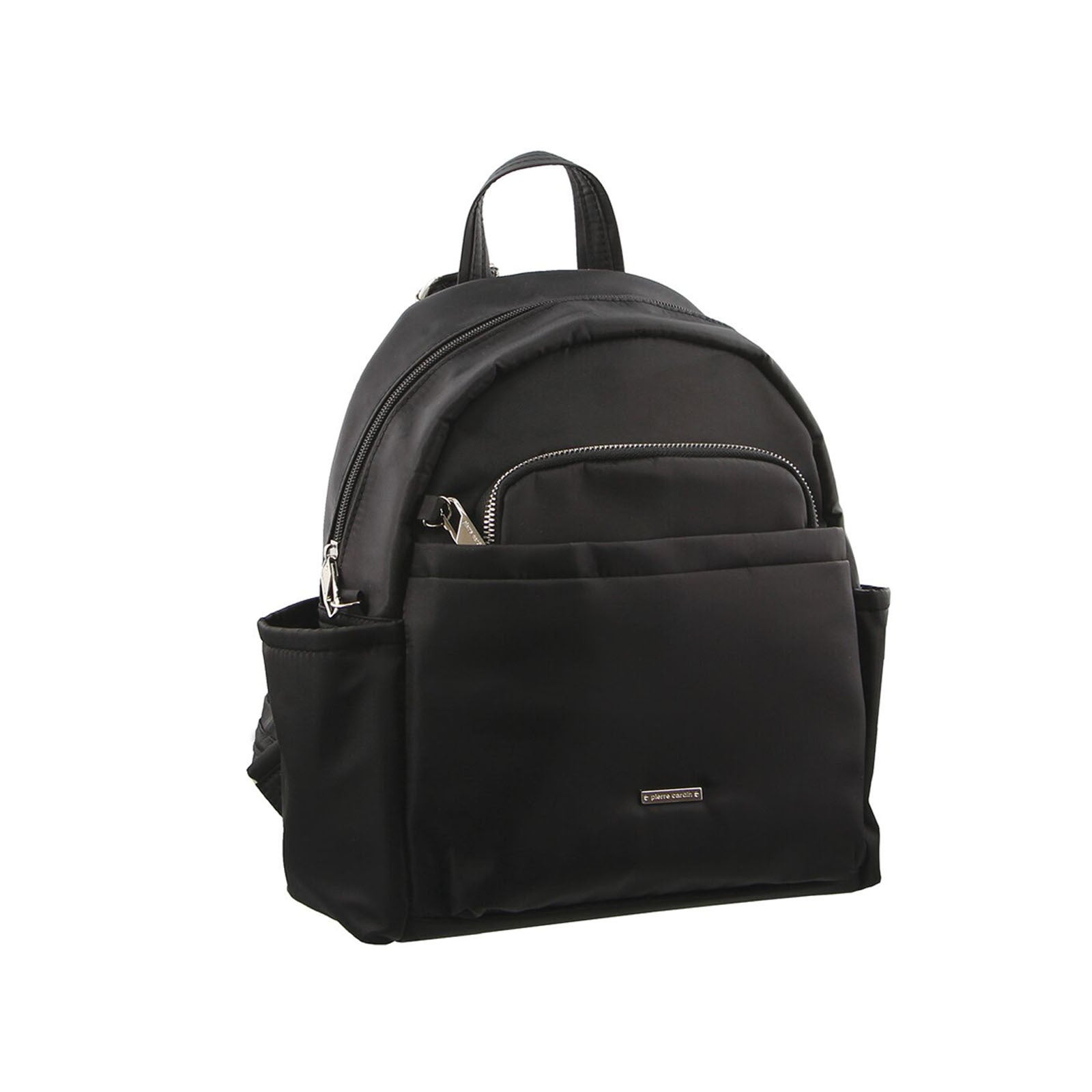 Pierre Cardin Nylon Backpack RFID Anti-Theft Slash Proof - Black
