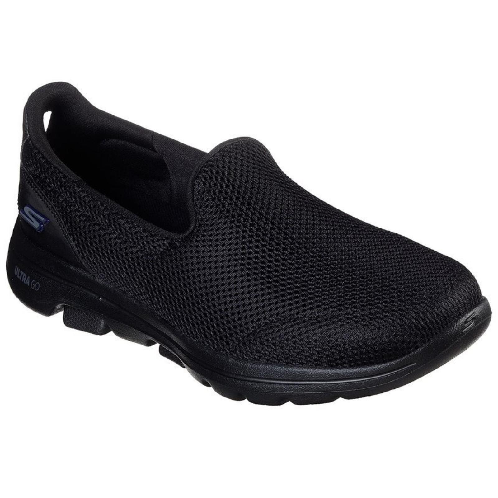 Skechers Women's Go Walk 5 Slip On Machine Washable Sneakers Shoes - Black/Black