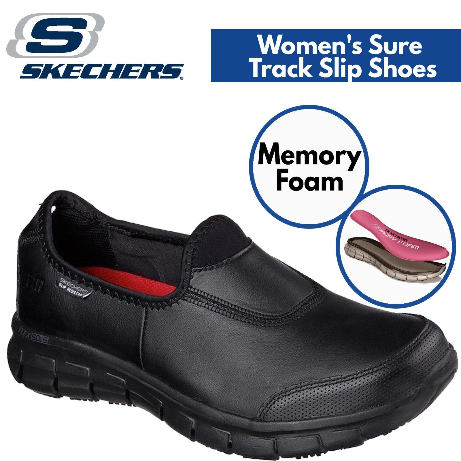 skechers slip resistant memory foam