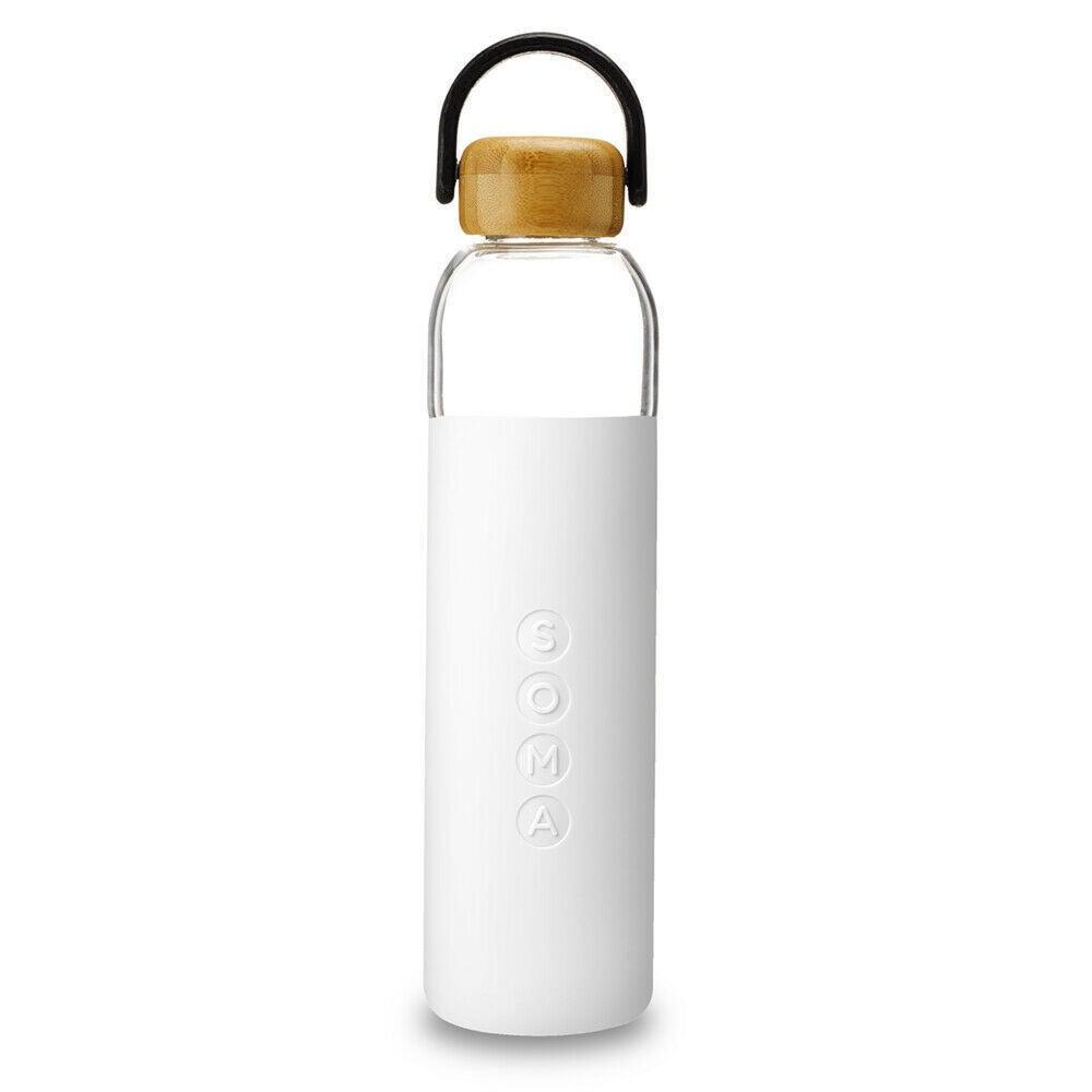 Soma Eco Glass Water Bottle 700ml BPA Free - White